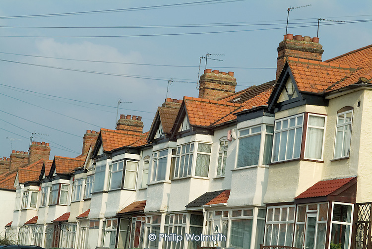 Terraced housing in West Hendon, London Borough of Brent.