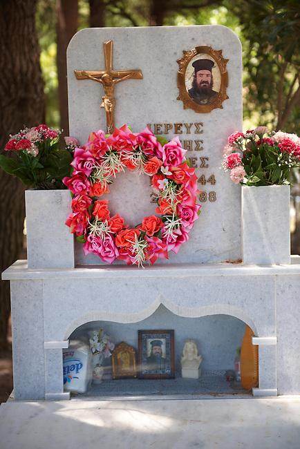 Gravetone of the Orthodox Priest of Komiaki Hill village