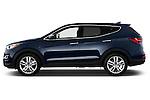 Driver side profile view of a .2013 Hyundai Santa Fe Sport