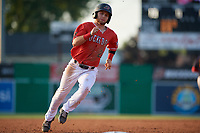 Batavia Muckdogs J.D. Orr (22) running the bases during a NY-Penn League game against the State College Spikes on July 3, 2019 at Dwyer Stadium in Batavia, New York.  State College defeated Batavia 6-4.  (Mike Janes/Four Seam Images)