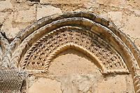 Pictures & images of Nikortsminda ( Nicortsminda ) St Nicholas Georgian Orthodox Cathedral exterior and its Georgian relief sculpture stonework, 11th century, Nikortsminda, Racha region of Georgia (country). A UNESCO World Heritage Tentative Site.