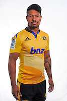 Ardie Savea. Hurricanes Super Rugby official headshots at Rugby League Park, Wellington, New Zealand on Tuesday, 13 January 2015. Photo: Dave Lintott / lintottphoto.co.nz
