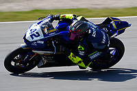 29th March 2021; Barcelona, Spain;  Superbikes, WorldSSP , day 1 testing at Circuit Barcelona-Catalunya; Stephane Frossard (CZE) riding Yamaha YZF-R6