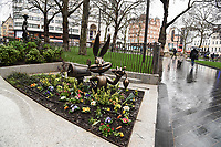 "Bugs Bunny statue unveiled at the launch of ""Scenes in the Square"" statue trail in Leicester Square, London.<br /> <br /> ©Ash Knotek  D3558 27/02/2020"