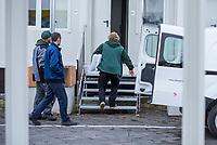Gemeinschaftsunterkunft fuer Gefluechtete in den Tempohomes auf dem Vorfeld des ehemaligen Flughafens Tempelhof.<br /> Die Containerunterkuenfte sollen ab der 2. Dezemberwoche 2017 mit fuer Gefluechtete eroeffnet werden.<br /> 1.12.2017, Berlin<br /> Copyright: Christian-Ditsch.de<br /> [Inhaltsveraendernde Manipulation des Fotos nur nach ausdruecklicher Genehmigung des Fotografen. Vereinbarungen ueber Abtretung von Persoenlichkeitsrechten/Model Release der abgebildeten Person/Personen liegen nicht vor. NO MODEL RELEASE! Nur fuer Redaktionelle Zwecke. Don't publish without copyright Christian-Ditsch.de, Veroeffentlichung nur mit Fotografennennung, sowie gegen Honorar, MwSt. und Beleg. Konto: I N G - D i B a, IBAN DE58500105175400192269, BIC INGDDEFFXXX, Kontakt: post@christian-ditsch.de<br /> Bei der Bearbeitung der Dateiinformationen darf die Urheberkennzeichnung in den EXIF- und  IPTC-Daten nicht entfernt werden, diese sind in digitalen Medien nach §95c UrhG rechtlich geschuetzt. Der Urhebervermerk wird gemaess §13 UrhG verlangt.]