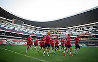 USA Training , Estadio Azteca, Monday, March 25, 2013