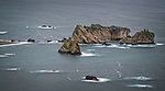 Small islets off the west coast of the south island of New Zealand.