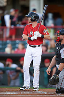 Erie SeaWolves right fielder Mike Gerber (32) at bat during a game against the Richmond Flying Squirrels on August 22, 2016 at Jerry Uht Park in Erie, Pennsylvania.  Erie defeated Richmond 4-2.  (Mike Janes/Four Seam Images)