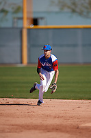 Anthony Mase (9) of Buckley High School in Los Angeles, California during the Baseball Factory All-America Pre-Season Tournament, powered by Under Armour, on January 13, 2018 at Sloan Park Complex in Mesa, Arizona.  (Mike Janes/Four Seam Images)