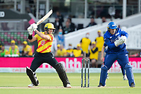 D'Arcy Short, Trent Rockets cuts through point during London Spirit Men vs Trent Rockets Men, The Hundred Cricket at Lord's Cricket Ground on 29th July 2021