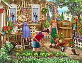 Liz,LANDSCAPES, LANDSCHAFTEN,garden,children, PAISAJES, LizDillon, paintings+++++,USHCLD0301,#L#, EVERYDAY ,puzzle,puzzles