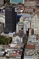 aerial photograph of Notre-Dame Basilica of Montreal, Montreal, Quebec, Canada | photographie aérienne de la basilique Notre-Dame de Montréal, Québec, Canada