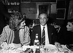 IRA FURSTENBERG E SARO BALSAMO<br /> FESTA DELLO STILISTA MIGUEL CRUZ A LA TAMPA MILANO 1987
