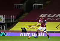 17th February 2021; Turf Moor, Burnley, Lanchashire, England; English Premier League Football, Burnley versus Fulham; Kevin Long of Burnley controls the ball and looks up for a pass
