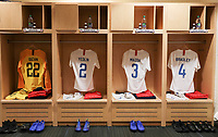 TORONTO, ON - OCTOBER 15: US men's national team locker room during a game between Canada and USMNT at BMO Field on October 15, 2019 in Toronto, Canada.
