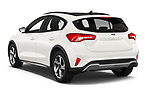 Car pictures of rear three quarter view of 2019 Ford Focus Active 5 Door Hatchback Angular Rear