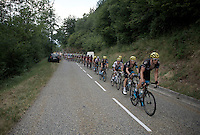 Ian Stannard (GBR/Sky) leading the SKY-boys over the  mountains <br /> <br /> stage 12: Lannemezan - Plateau de Beille (195km)<br /> 2015 Tour de France