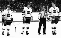 Jim Fox Ed Hospodar Bobby Smith Ottawa 67's. Photo Scott Grant
