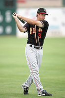 Erik Wetzel of the Modesto Nuts during game against the Lancaster JetHawks at Clear Channel Stadium in Lancaster,California on July 15, 2010. Photo by Larry Goren/Four Seam Images