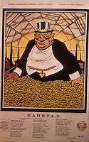 "Russian Revolution:  Poster--""Capitalism"".   Victor Deni 1919."