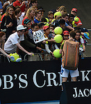 Andy MURRAY (GBR) wins at Australian Open in Melbourne Australia on 21st January 2013