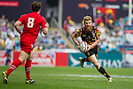 Wales vs Belgium during the HSBC Sevens Wold Series Bowl Quarter Finals match as part of the Cathay Pacific / HSBC Hong Kong Sevens at the Hong Kong Stadium on 29 March 2015 in Hong Kong, China. Photo by Juan Manuel Serrano / Power Sport Images