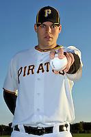 Feb 28, 2010; Bradenton, FL, USA; Pittsburgh Pirates  pitcher Justin Thomas (65) during  photoday at Pirate City. Mandatory Credit: Tomasso De Rosa/ Four Seam Images