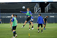 SAN JOSE, CA - OCTOBER 03: Jackson Yueill #14 of the San Jose Earthquakes before a game between Los Angeles Galaxy and San Jose Earthquakes at Earthquakes Stadium on October 03, 2020 in San Jose, California.