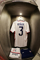 GUADALAJARA, MEXICO - MARCH 24: The locker of Henry Kessler #3 of the United States before a game between Mexico and USMNT U-23 at Estadio Jalisco on March 24, 2021 in Guadalajara, Mexico.