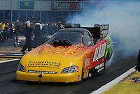 May 1, 2011; Baytown, TX, USA: NHRA funny car driver Bob Bode during the Spring Nationals at Royal Purple Raceway. Mandatory Credit: Mark J. Rebilas-