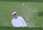 4 October 2008: Robert Allenby escapes from a bunker during the third round at the Turning Stone Golf Championship in Verona, New York