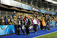 Bath Rugby fans leave before the final whistle after losing the Amlin Challenge Cup trophy 16-30 against Northampton Saints at Cardiff Arms Park on Friday 23rd May 2014 (Photo by Rob Munro)