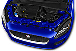 Car stock 2019 Jaguar E-PACE R-Dynamic S 5 Door SUV engine high angle detail view