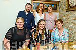Tara Farrell from Longford and Tralee celebrating her birthday in Bella Bia on Saturday. Seated l to r: Amy Hanlon, Tara Farrell and Brenda Costello. Standing l to r: Eoin Costello, Caroline and Charlotte Farrell.