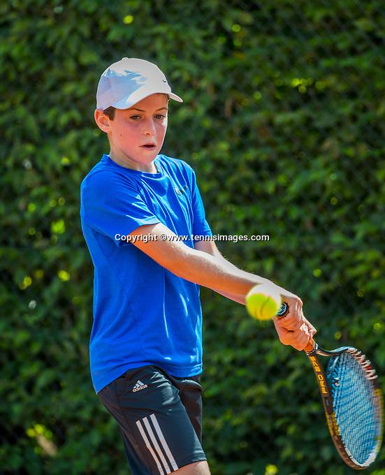 Hilversum, Netherlands, August 7, 2017, National Junior Championships, NJK, Antoni Clarijs<br /> Photo: Tennisimages/Henk Koster