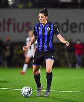 Brugge's Frieke Temmerman pictured during a female soccer game between Sporting Charleroi and Club Brugge YLA on the fourth matchday of the 2020 - 2021 season of Belgian Scooore Womens Super League , friday 9 nd of October 2020  in Marcinelle , Belgium . PHOTO SPORTPIX.BE | SPP | DAVID CATRY