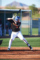 Brenden Murray (16) of Pioneer High School in West Sacramento, California during the Baseball Factory All-America Pre-Season Tournament, powered by Under Armour, on January 13, 2018 at Sloan Park Complex in Mesa, Arizona.  (Zachary Lucy/Four Seam Images)