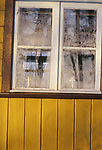 Ice patterns on the windows of a Russian Orthodox church in Bialowieza,   Eastern Border of Poland.