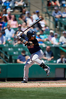Scranton/Wilkes-Barre RailRiders shortstop Gleyber Torres (7) bats during a game against the Rochester Red Wings on June 7, 2017 at Frontier Field in Rochester, New York.  Scranton defeated Rochester 5-1.  (Mike Janes/Four Seam Images)