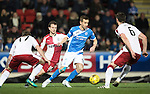 St Johnstone v Rangers…28.12.16     McDiarmid Park    SPFL<br />Steven MacLean is surrounded by Danny Wilson, Andy Halliday and Lee Hodson<br />Picture by Graeme Hart.<br />Copyright Perthshire Picture Agency<br />Tel: 01738 623350  Mobile: 07990 594431