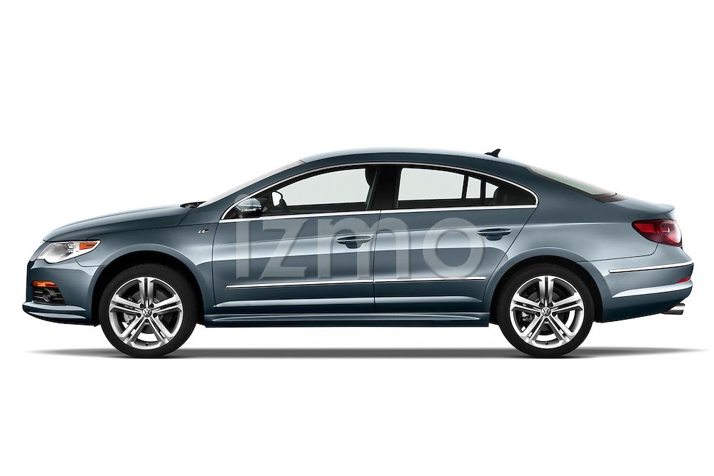 Driver side profile view of a 2010 Volkswagen CC Sport R-Line Sedan.