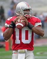 Ohio State quarterback Troy Smith, October 3, 2004. Smith won the Heisman Trophy.