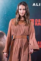 Alicia Vikander present Tomb Raider in Spain