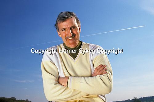 Jimmy Hill, sports television presenter. 1990s UK