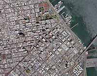 aerial photo map of San Francisco, California, 2014.  For a more recent aerial map of San Francisco, please contact Aerial Archives.