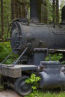 Yakutat and Southern Railroad historic fish train was used to transport salmon to the coastal town of Yakutat, Southeast, Alaska