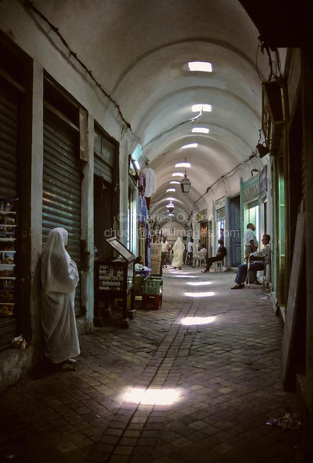 Tunisia.  Tunis Medina.  Vaulted Passageways in the Tunis Medina.