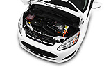 Car Stock 2018 Ford C-Max SE-Hybrid 5 Door Mini MPV Engine  high angle detail view