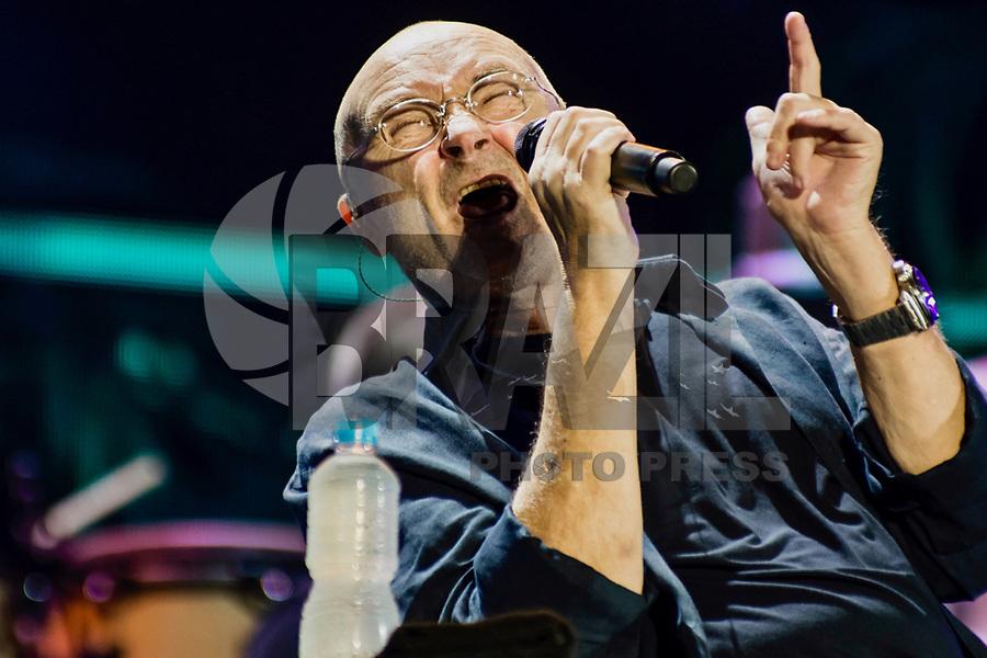 RIO DE JANEIRO,RJ,22.02.2018 - SHOW-RJ - Cantor inglês Phil Collins durante sua primeira turne solo no Brasil no Estadio do Maracana, na zona norte da cidade do Rio de Janeiro . nesta sexta-feira, 22 (Foto: Lu Valiatti/ Brazil Photo Press).