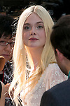 """Elle Fanning, Jun 23, 2014 : Tokyo, Japan : The actress Elle Fanning appears during the Japan premier for the film """"Maleficent"""" in Yebisu Garden Place on June 23, 2014. The movie will be released on July 5th. (Photo by Rodrigo Reyes Marin/AFLO)"""